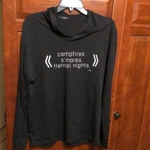 Fall written long sleeve hoodie t shirt